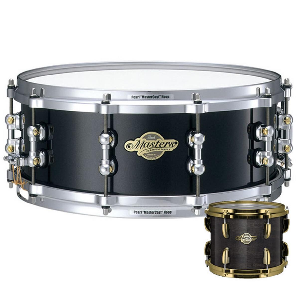 pearl masters premium snare drum 14 x 5 5 black mist at. Black Bedroom Furniture Sets. Home Design Ideas
