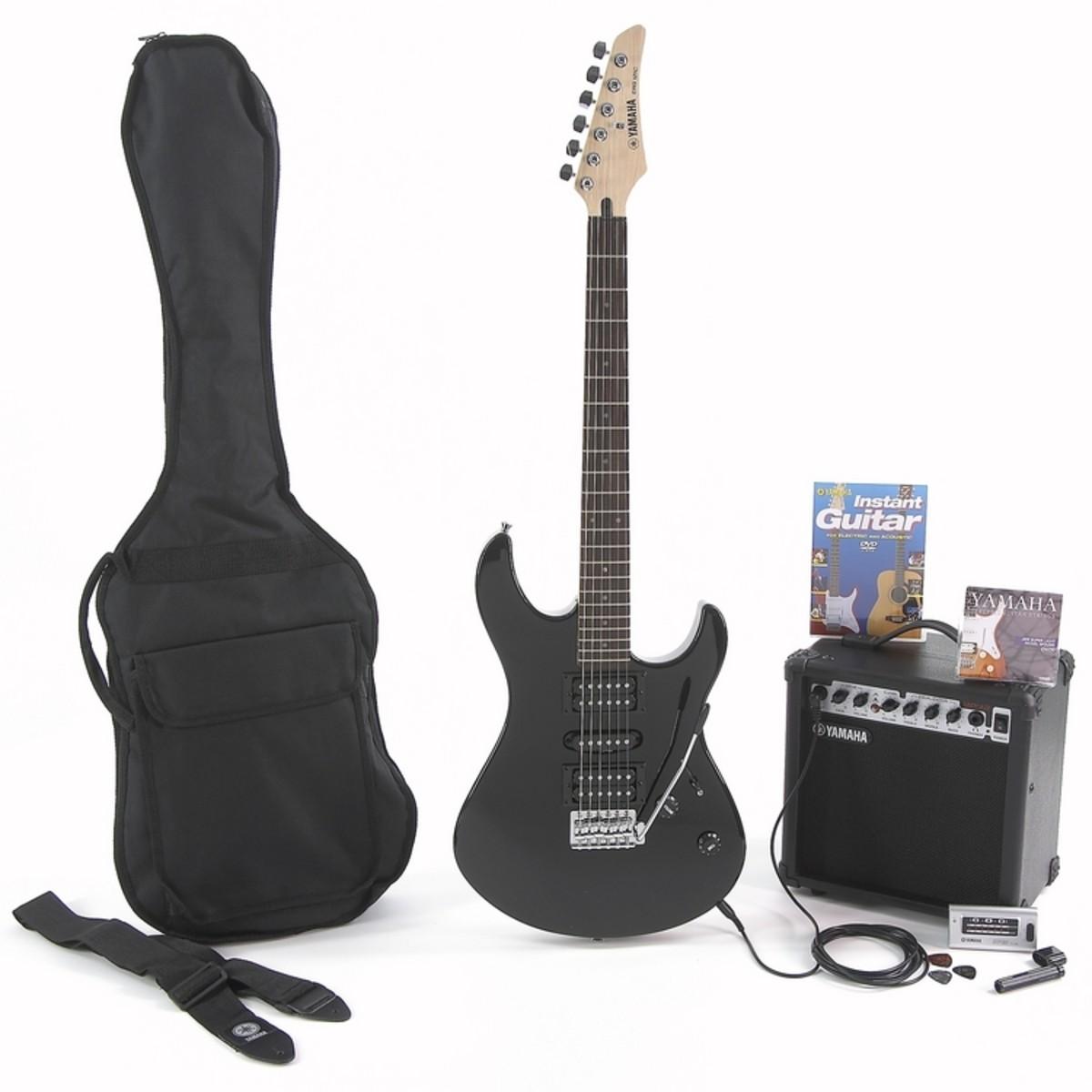 disc yamaha erg121 electric guitar starter pack black at. Black Bedroom Furniture Sets. Home Design Ideas
