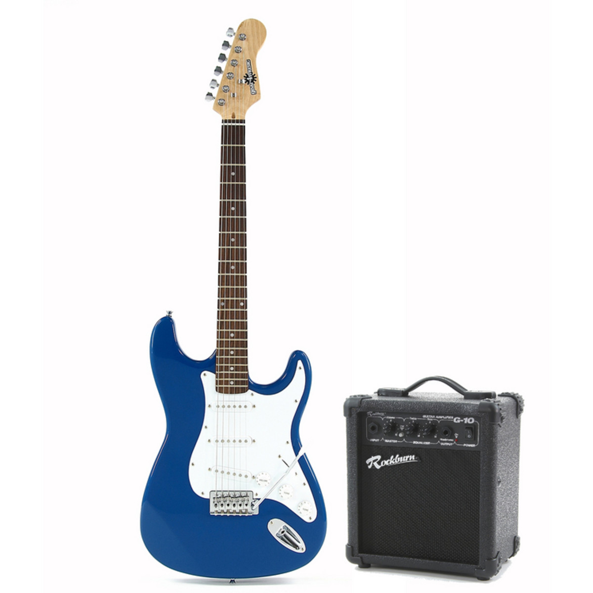 electric st guitar 10w amp blue at. Black Bedroom Furniture Sets. Home Design Ideas
