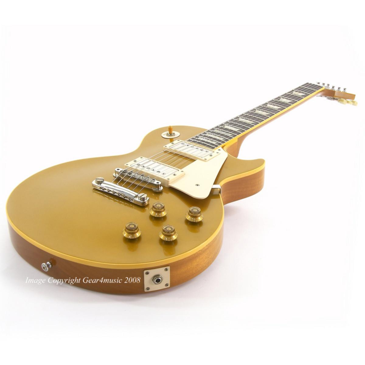 guitare lectrique de gibson les paul 1957 vos goldtop. Black Bedroom Furniture Sets. Home Design Ideas