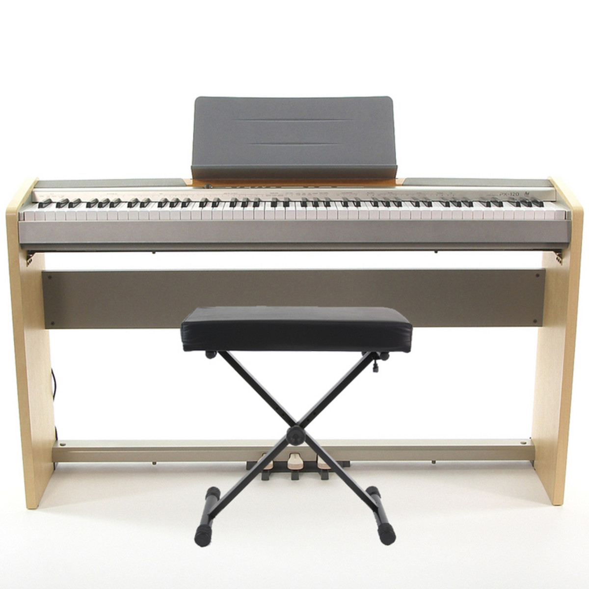 Casio privia px 120 piano stand bench and pedal board at Keyboard stand and bench