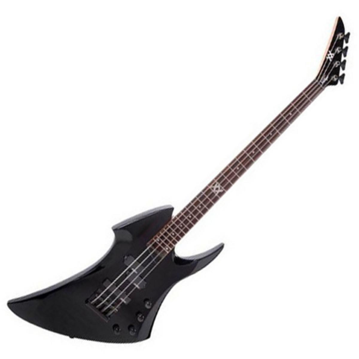 disc vintage metal axxe warp bass guitar gloss black at. Black Bedroom Furniture Sets. Home Design Ideas
