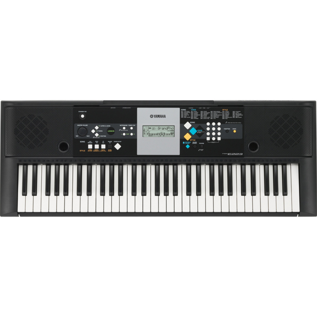 disc yamaha psr e223 portable keyboard at. Black Bedroom Furniture Sets. Home Design Ideas