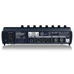 Behringer BCF2000 Control Surface, Rear
