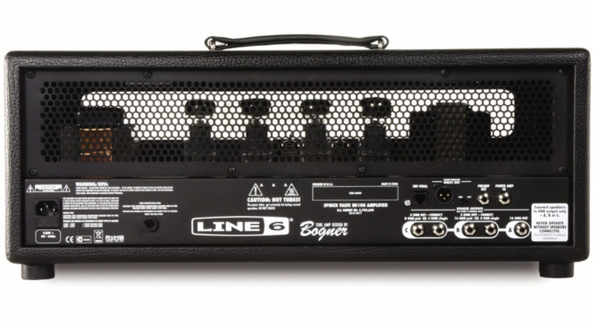line 6 spider valve hd100 guitar amp head at. Black Bedroom Furniture Sets. Home Design Ideas