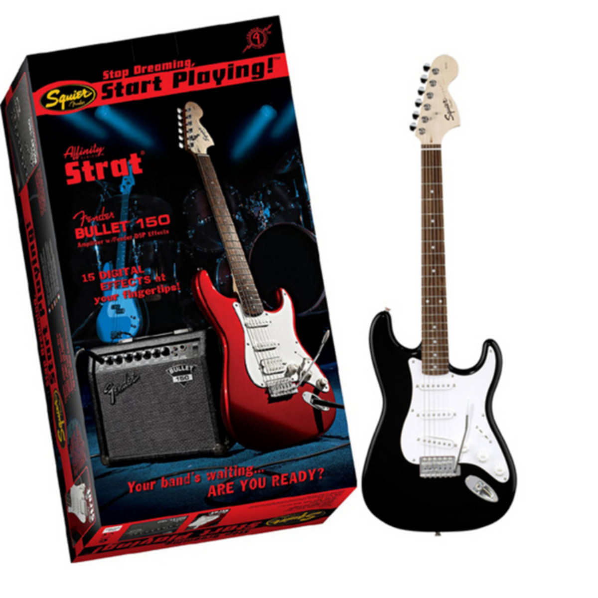 Squier Affinity Strat Wiring Diagram: Squier Affinity Strat, Bullet 150 DSP Amp Pack, Black At
