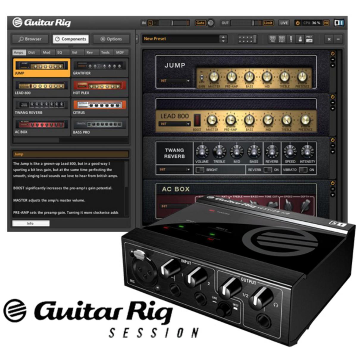 ... la sesión de Rig de Guitarra de Native Instruments en Gear4Music.com