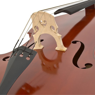 Deluxe 3/4 Solid Top Double Bass + Case by Gear4music