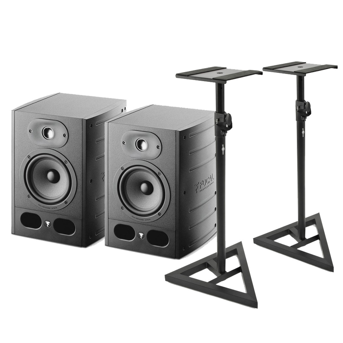 Image of Focal Alpha 50 Active Studio Monitors (Pair) Includes Stands