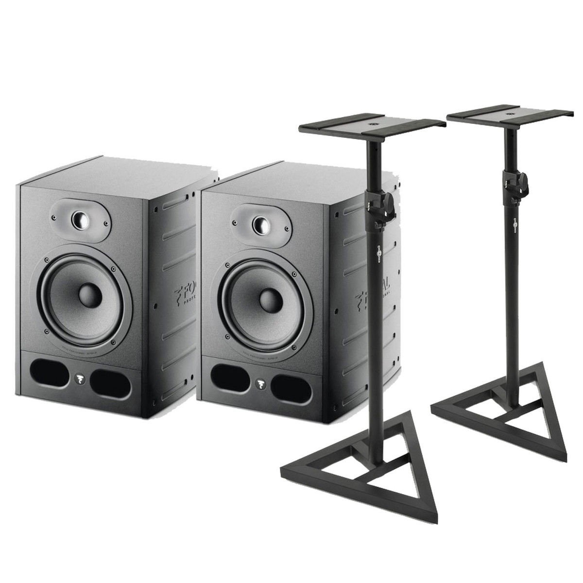 Image of Focal Alpha 65 Active Studio Monitors (Pair) with Stands