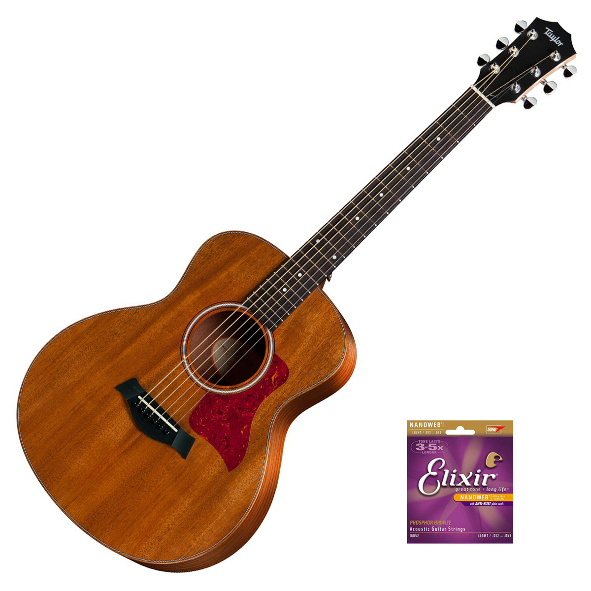 taylor gs mini mahogany acoustic guitar with free elixir strings at. Black Bedroom Furniture Sets. Home Design Ideas