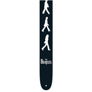 Perri's 6085 The Beatles 2.5'' Guitar Strap, B&W Abbey Road
