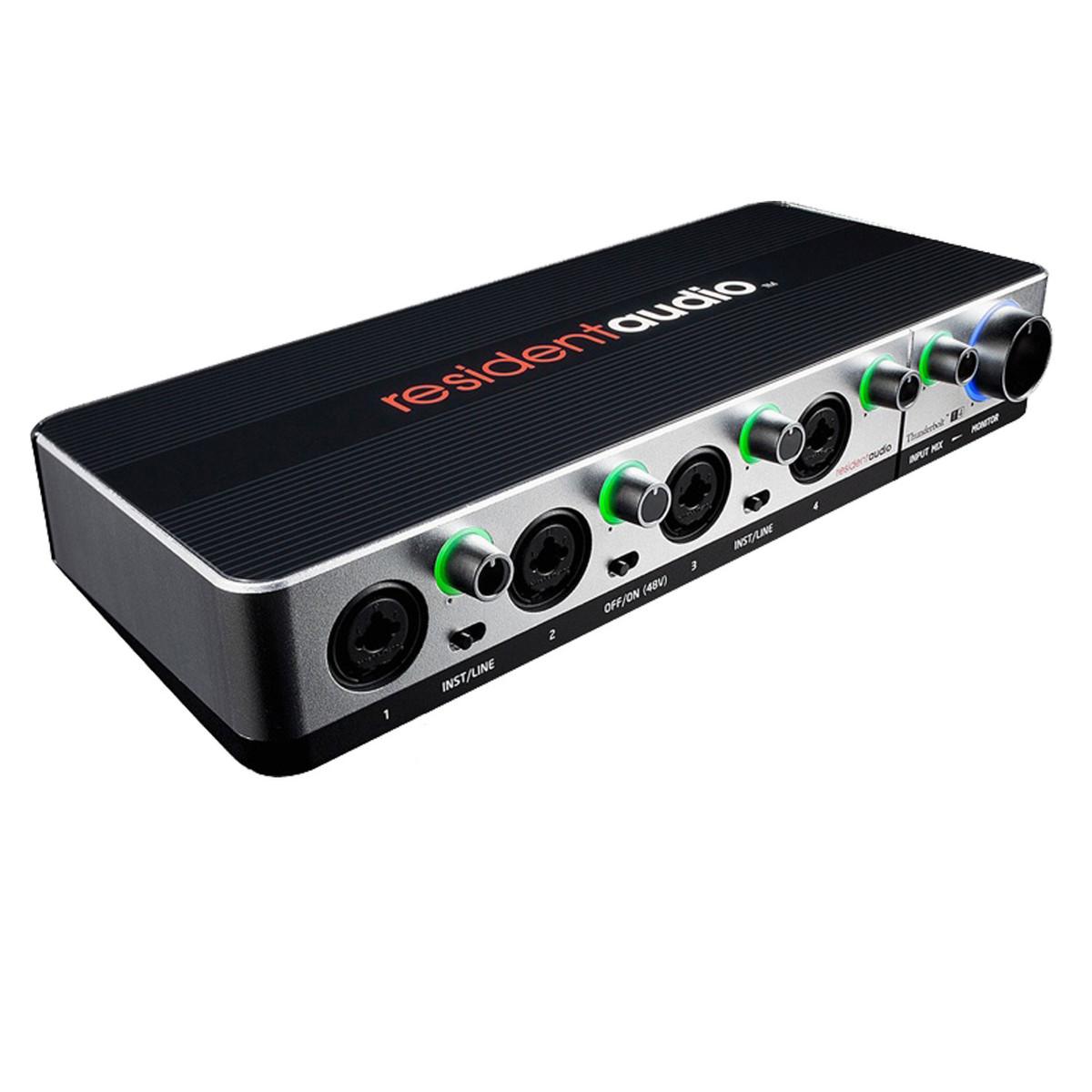 resident audio t4 thunderbolt audio interface at