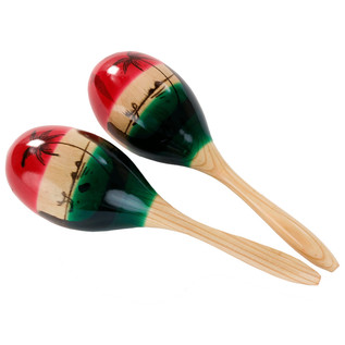 Percussion Plus PP217 Tricolour Maracas, Medium