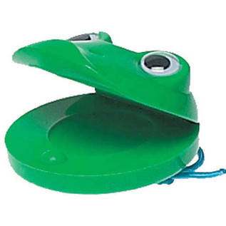 Percussion Plus PP1012 Castanets, Green Frog