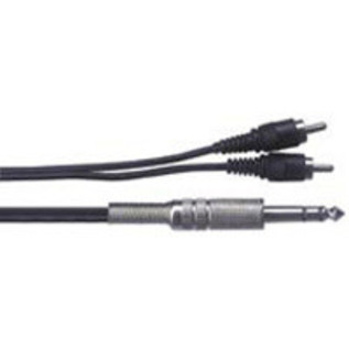 Stereo Jack - Phono (2x) Cable, 1m
