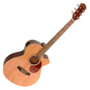 Freshman RENOCNAT Folk Cutaway Electro Acoustic Guitar, Natural