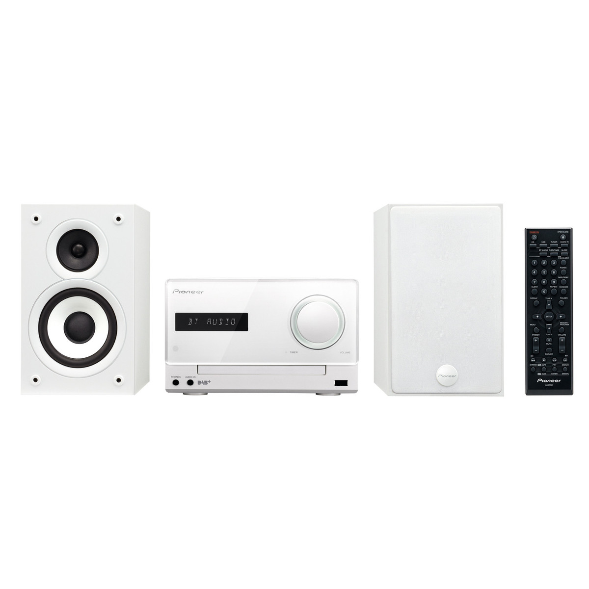 pioneer x cm32btd micro system with bluetooth and dab radio white at. Black Bedroom Furniture Sets. Home Design Ideas