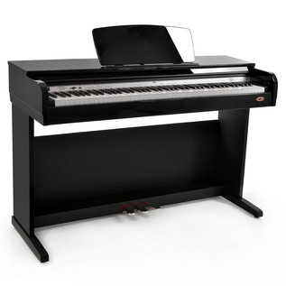 DP10 Digital Piano by Gear4music, Gloss Black
