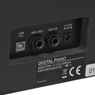 DP10 Digital Piano by Gear4music, Gloss Black