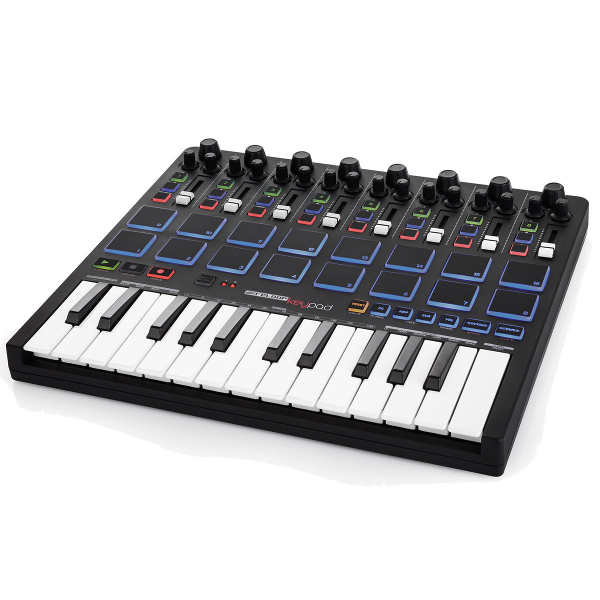 reloop keypad midi controller with pads and keyboard at. Black Bedroom Furniture Sets. Home Design Ideas
