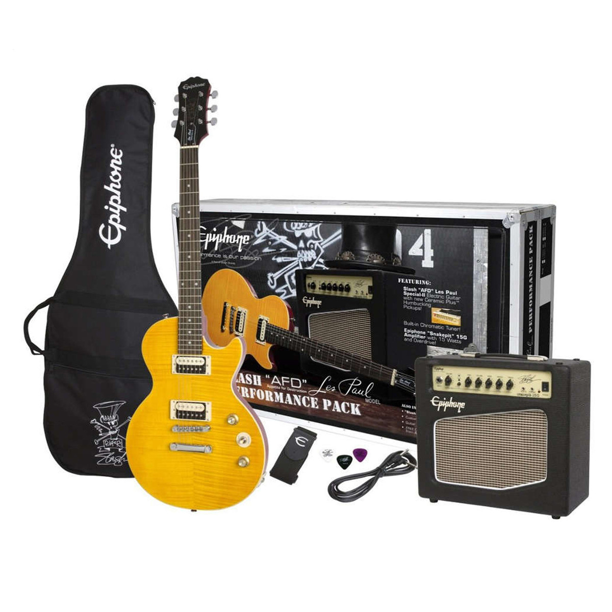 epiphone slash 39 afd 39 les paul special ii guitar and amp pack at. Black Bedroom Furniture Sets. Home Design Ideas
