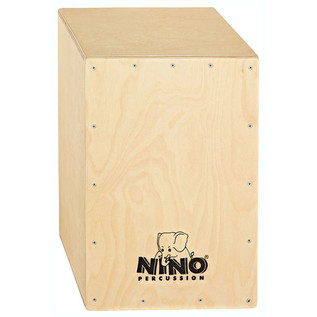 Nino Percussion Large Cajon, Natural Frontplate