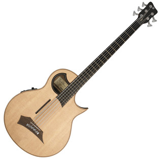 Warwick Alien 5-String Electro-Acoustic Bass, Natural Satin