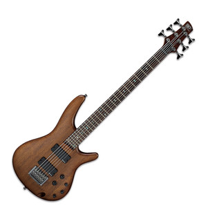 Ibanez SRC6-WNF Bass Guitar, Walnut Flat