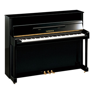 Yamaha B2 Silent Upright Piano, Black Polyester