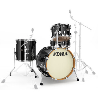 Tama Silverstar 18in 4 Piece Shell Pack, Brushed Charcoal Black