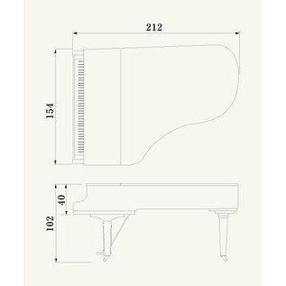 Yamaha CX6 Grand Piano, Black Polyester