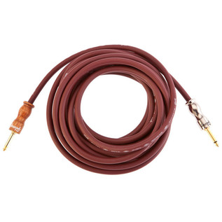 Gibson Premium 25' (6.4m) Instrument Cable, Cherry/Cherrywood