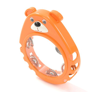 Percussion Plus PP1015 Tambourine, Orange Bear