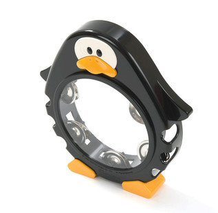 Percussion Plus PP1016 Tambourine, Black Penguin