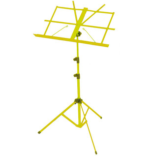 Percussion Plus PP614 Music Stand with Carry Bag, Yellow