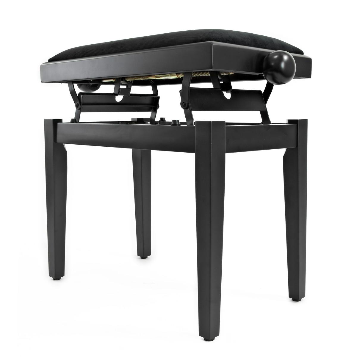 tabouret de piano r glable par gear4music noir mat ex d mo. Black Bedroom Furniture Sets. Home Design Ideas