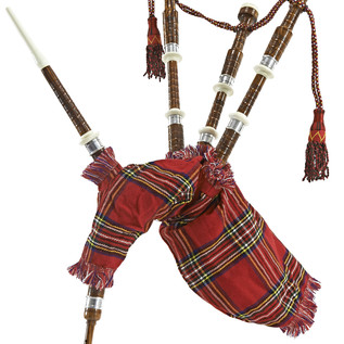 Bagpipes by Gear4music, Half Size Royal Stewart