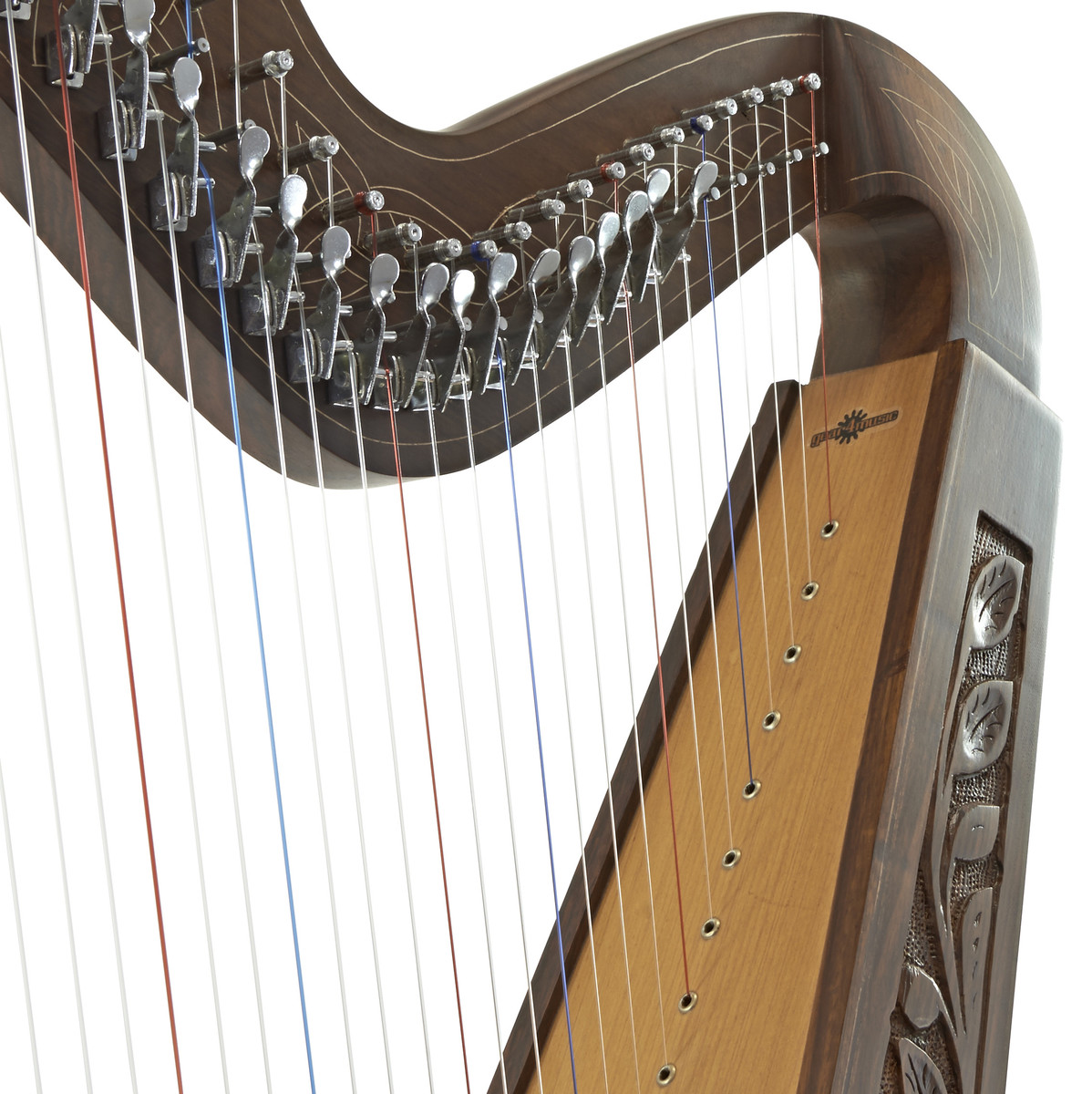 36 String Irish Harp with Levers by Gear4music