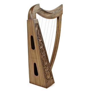 22 String Irish Harp with Levers By Gear4music