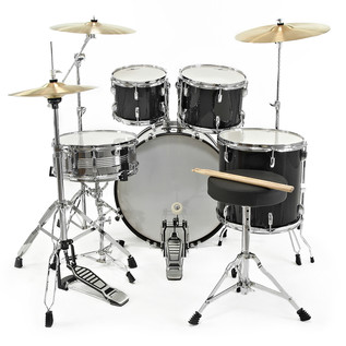GD-7 Fusion Drum Kit by Gear4music, Black Sparkle