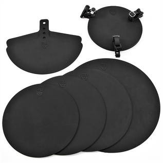 Drum Kit Silencing Pad Set by Gear4music - Rock Sizes