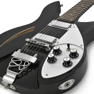 Santa Ana Electric Guitar by Gear4music, Black