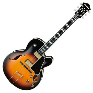 Ibanez Prestige AF200-BS Hollow Body Guitar, Brown Sunburst