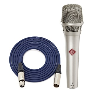 Neumann KMS 105 Vocal Mic, Nickel with Free Neutrik 6m XLR Cable