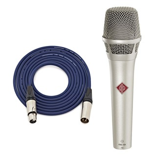 Neumann KMS 104 NI Vocal Mic, Nickel with Free Neutrik 6m XLR Cable