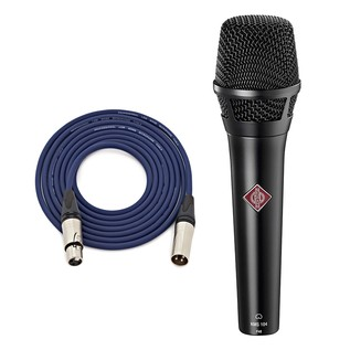 Neumann KMS 104 MT Vocal Mic, Black with Free Neutrik 3m XLR Cable