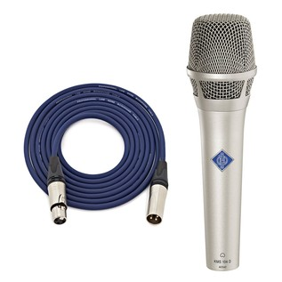 Neumann KMS 104 PLUS NI Vocal Mic, Nickel with Free Monster XLR Cable
