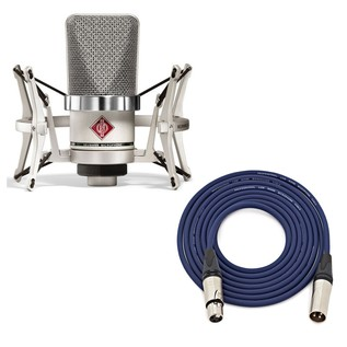 Neumann TLM 102 Studio Microphone Set, Nickel with Free Neutrik 3m XLR Cable