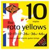 Cordes pour guitare électrique de Rotosound R10 Roto jaune Nickel, 10-46